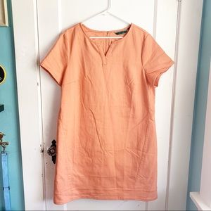C Wonder Orange 16 Shift Dress Short Sleeves